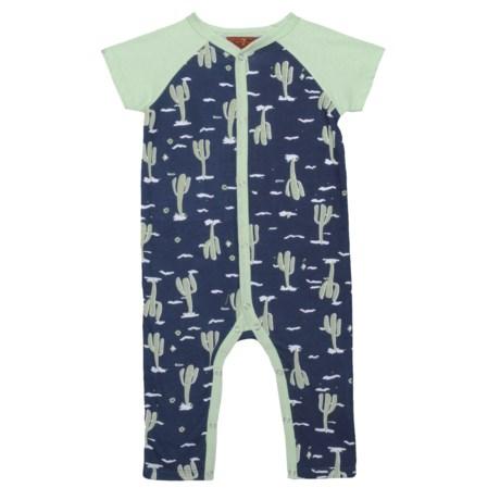7 for All Mankind Cactus Coveralls - Short Sleeve (For Infant Boys) in Desert Print