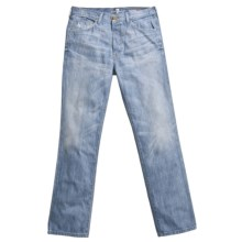 7 For All Mankind Cooper No Break Jeans - Slim Leg (For Men) in Light Wash - Closeouts