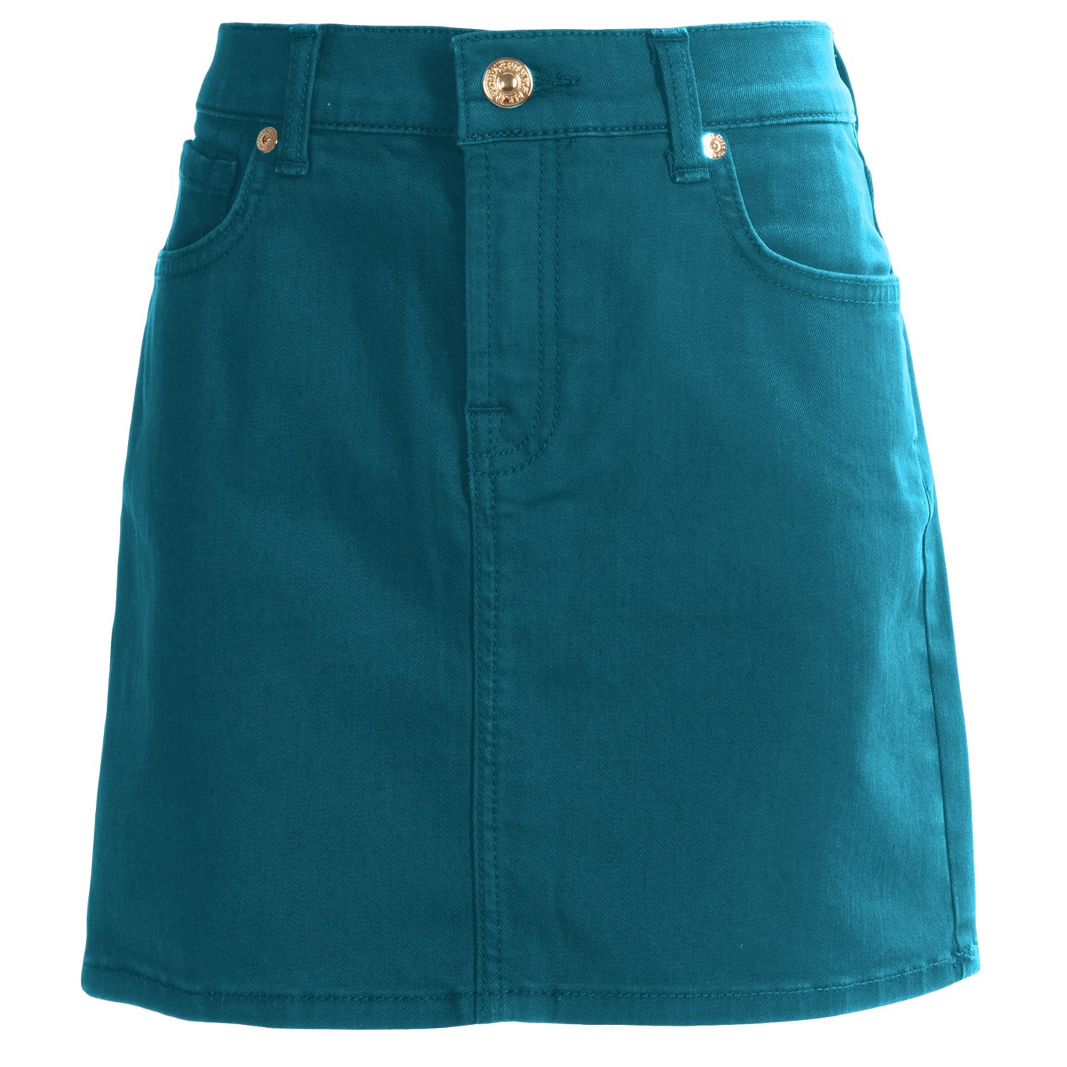 7 for all mankind cotton colored denim skirt for big