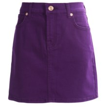 7 for all Mankind Cotton Colored Denim Skirt (For Big Girls) in Grape Royal - Closeouts