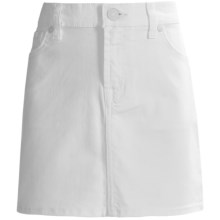 7 for all Mankind Cotton Denim Skirt (For Big Girls) in Clean White - Closeouts