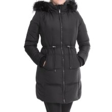 7 For All Mankind Quilted Down Anorak - Faux-Fur Hood (For Women) in Black - Closeouts