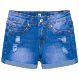 7 for All Mankind Roll Cuff Shorts (For Little Girls)