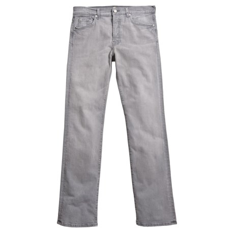 7 For All Mankind Standard Jeans - Straight Leg (For Men) in Grey