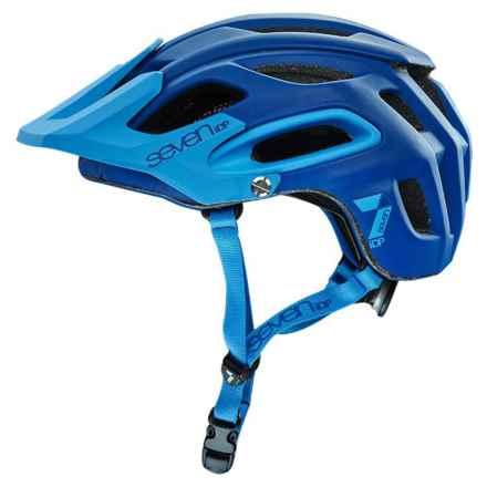 7iDP M2 Cycling Helmet (For Men and Women) in Matte Navy/Cyan - Closeouts