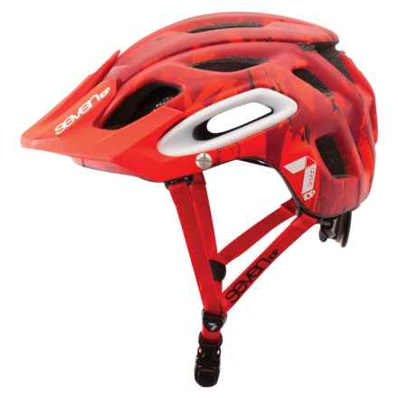 7iDP M2 Cycling Helmet (For Men and Women) in Matte Red Camo - Closeouts
