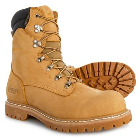 Image of 8? Burkhart Work Boots - Waterproof, Steel Safety Toe, Nubuck (For Men)
