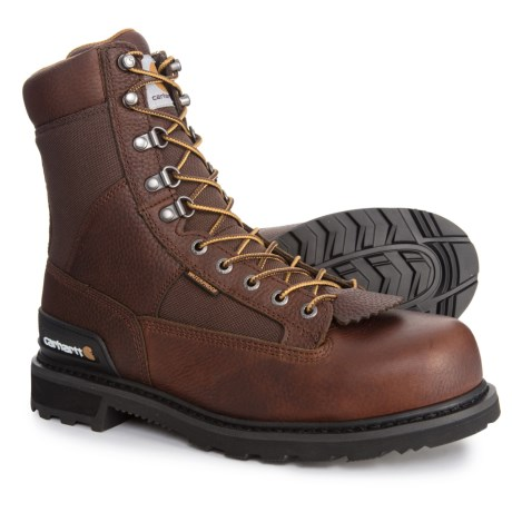 Image of 8? Low Logger Boots - Steel Safety Toe, Waterproof, Leather (For Men)