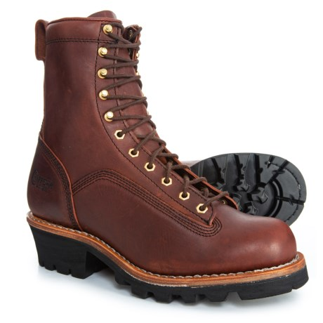 Image of 8? Paladin Logger Work Boots - Leather (For Men)