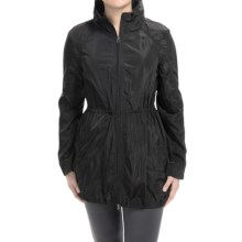 90 Degree by Reflex Allover Body Running Rain Jacket - Hooded (For Women) in Black - Closeouts