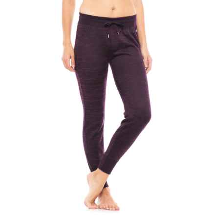 90 Degree by Reflex Brushed Hacci Joggers (For Women) in Heather Merlot - Closeouts
