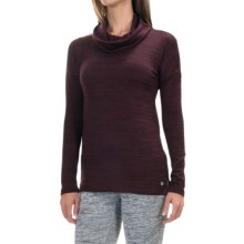 90 Degree by Reflex Cowl Neck Sweater (For Women) in Heather Merlot - Closeouts