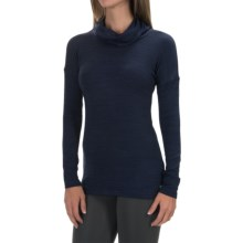 90 Degree by Reflex Cowl Neck Sweater (For Women) in Heather Navy - Closeouts