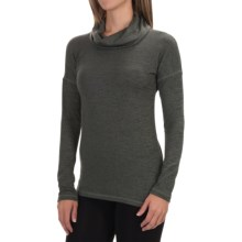 90 Degree by Reflex Cowl Neck Sweater (For Women) in Heather Olive - Closeouts