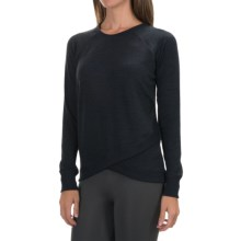 90 Degree by Reflex Cross Bottom Shirt - Long Sleeve (For Women) in Heather Charcoal - Closeouts