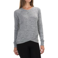 90 Degree by Reflex Cross Bottom Shirt - Long Sleeve (For Women) in Heather Grey - Closeouts