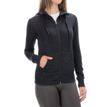 90 Degree by Reflex Full-Zip Hooded Jacket (For Women) in Heather Charcoal - Closeouts