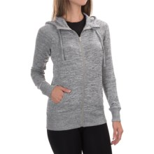 90 Degree by Reflex Full-Zip Hooded Jacket (For Women) in Heather Grey - Closeouts
