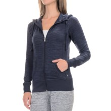 90 Degree by Reflex Full-Zip Hooded Jacket (For Women) in Heather Navy - Closeouts