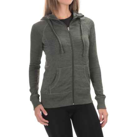 90 Degree by Reflex Full-Zip Hooded Jacket (For Women) in Heather Olive - Closeouts