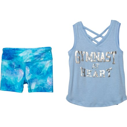 b341b8d375 90 Degree by Reflex Gymnast at Heart Tank Top and Shorts Set (For Little  Girls
