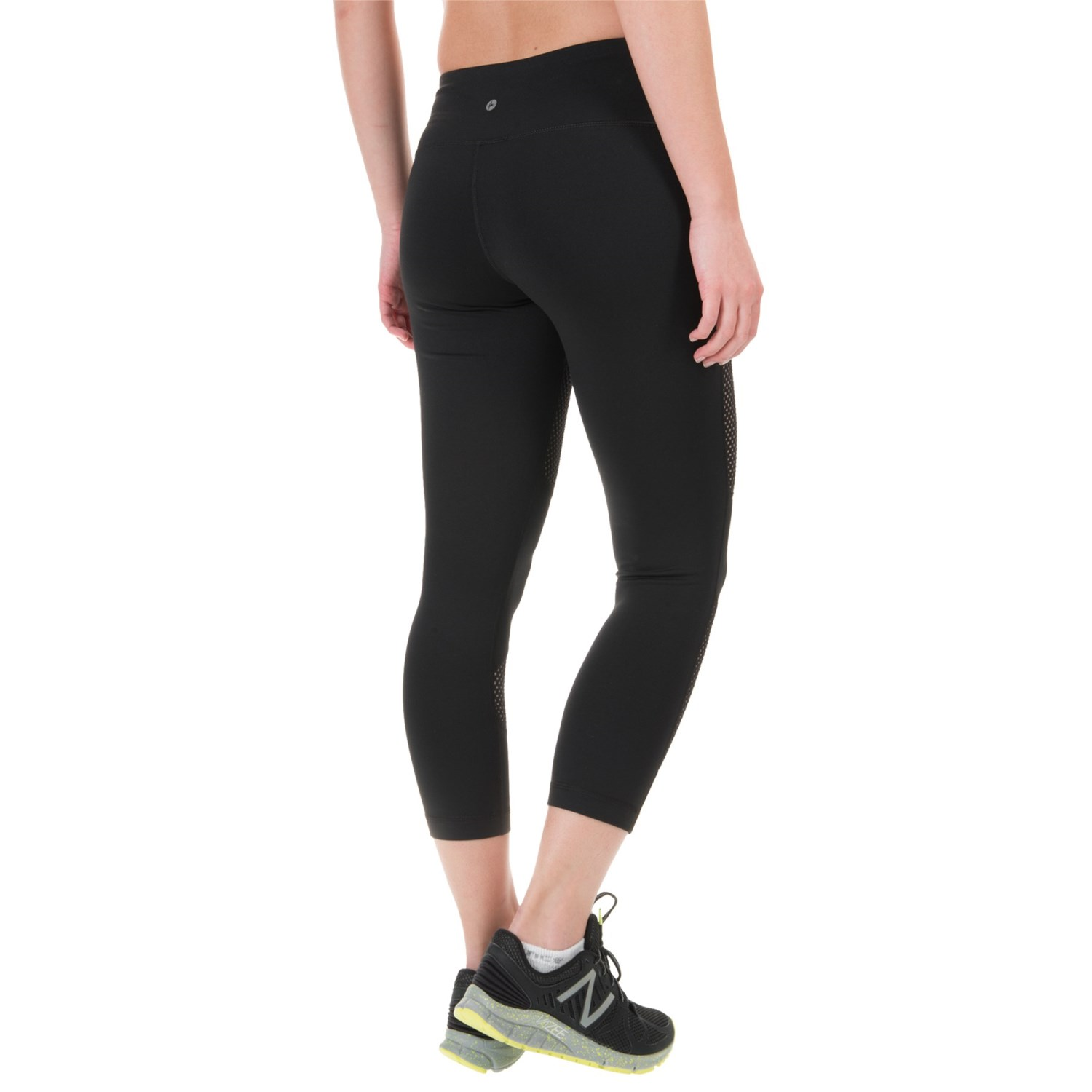 179dn 2 90 degree by reflex high waist mesh block capris for women
