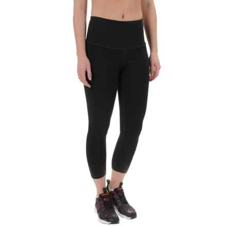 90 Degree by Reflex High-Waist Running Capris (For Women) in Black - Closeouts