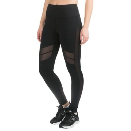 90 Degree by Reflex High-Waist Running Leggings - Mesh Sides