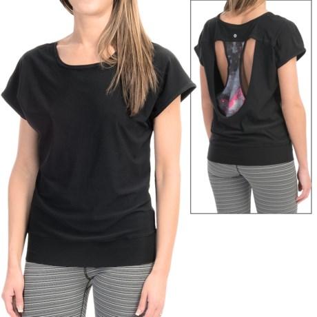 90 Degree by Reflex Laser Cut Shirt Short Sleeve (For Women)