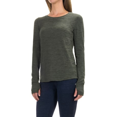 90 degree by reflex open back shirt long sleeve for women in