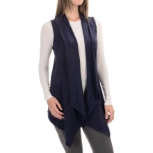 90 Degree by Reflex Open-Front Cardigan Sweater - Sleeveless (For Women) in Heather Navy - Closeouts