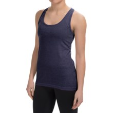 90 Degree by Reflex Power Flex Racerback Tank Top (For Women) in Heather Navy - Closeouts