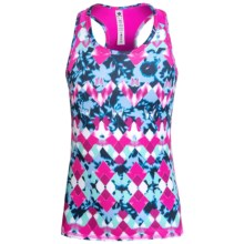 90 Degree by Reflex Printed Tank Top - Racerback (For Big Girls) in Diamond Drops/Strawberry - Closeouts