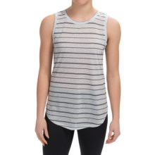90 Degree by Reflex Relaxed Fit Muscle T-Shirt - Sleeveless (For Women) in Grey Stripe - Closeouts