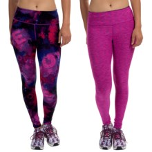 90 Degree by Reflex Reversible Printed Leggings (For Women) in Universe Pink Blue White/Fusion Space Dye - Closeouts