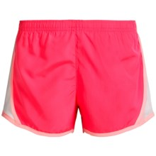 90 Degree by Reflex Running Shorts - Built-In Briefs (For Big Girls) in Flash Mode/Veiled Rose/White - Closeouts