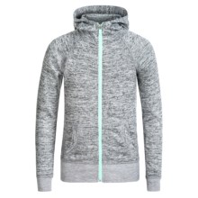 90 Degree by Reflex Shimmer Hoodie (For Big Girls) in Heathered Grey/Soft Mint - Closeouts