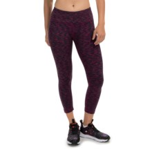 90 Degree by Reflex Space-Dye Capri Leggings (For Women) in Purple Fusion Space Dye - Closeouts