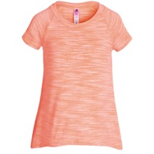 90 Degree by Reflex Space-Dye T-Shirt - Short Sleeve (For Big Girls) in Neon Orage Space Dye - Closeouts