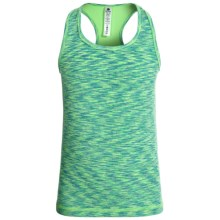 90 Degree by Reflex Space-Dye Tank Top - Racerback (For Big Girls) in Electric Green Space Dye - Closeouts
