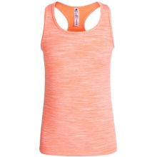 90 Degree by Reflex Space-Dye Tank Top - Racerback (For Big Girls) in Neon Orange Space Dye - Closeouts