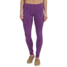 90 Degree by Reflex Space-Dye Workout Pants (For Women) in Violet Snow Space Dye - Closeouts