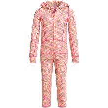 90 Degree by Reflex Space-Dyed Jacket and Leggings Set (For Little Girls) in Neon Pink Lime Space Dye - Closeouts