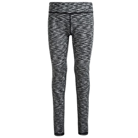 90 Degree by Reflex Space-Dyed Leggings (For Big Girls) in Black Space Dye/Silver