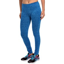 90 Degree by Reflex Tall-Waistband Space-Dyed Leggings (For Women) in Periwinkle/Navy Dot Sd - Closeouts