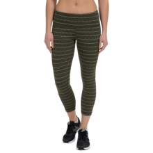 90 Degree by Reflex Textured Fabric Capris (For Women) in Army Green - Closeouts