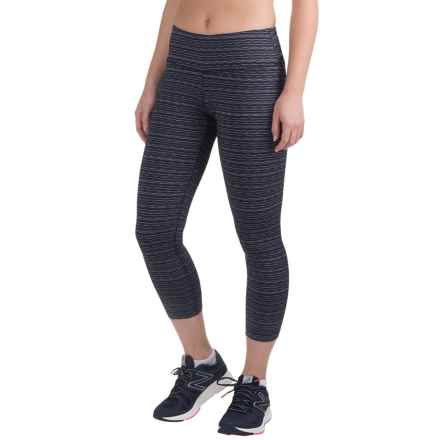 90 Degree by Reflex Textured Fabric Capris (For Women) in Navy Combo/Black - Closeouts