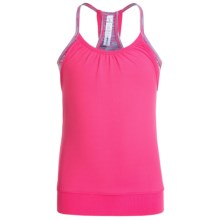 90 Degree by Reflex Twofer Tank Top (For Big Girls) in Melton Pink/Mint Pink Purple Space Dyed - Closeouts