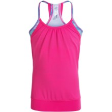 90 Degree by Reflex Twofer Tank Top (For Big Girls) in Melton Pink/Under Water Lights - Closeouts