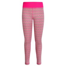 90 Degree by Reflex Zigzag Leggings (For Big Girls) in Neon Pink Lime Combo/Molten Pink - Closeouts